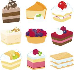 9種類のショートケーキ