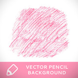 Pink pencil sketch background pattern.