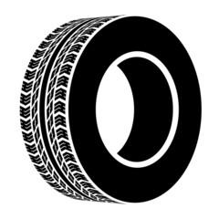 vector black terrain tyre symbol