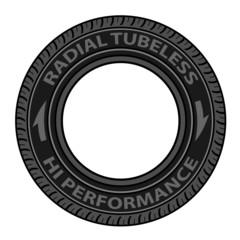 vector radial tubeless tyre