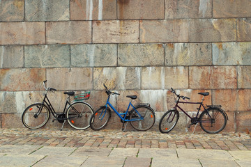 Bicycles near the wall