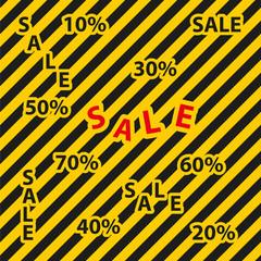 Attention/Hazard Sale Background