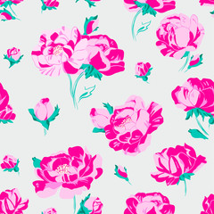 flower; pattern; anemone, floral; seamless