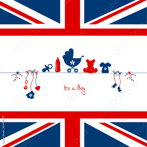 "Card Baby Symbols UK ""It´s a boy"""