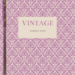 background; damask; vintage; brown, violet