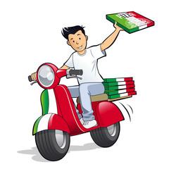 Pizzeria - Livraison pizza scooter
