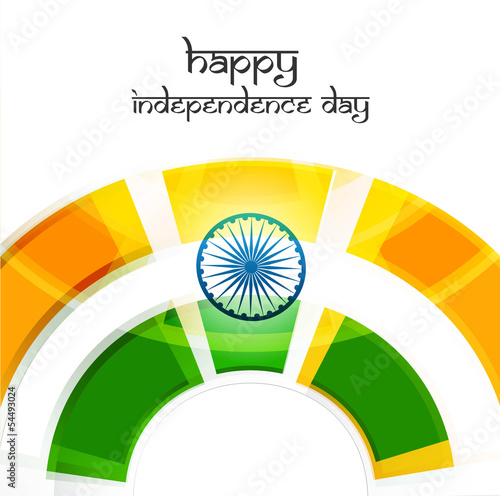 Beautiful illustration of Indian flag wave background