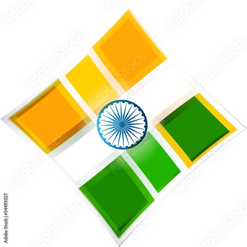 Style indian flag background vector