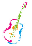 Guitare_Traces couleurs