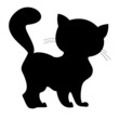 silhouette of a little kitten