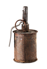 Old rusty grenade from World War II