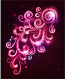 Decorative abstraction with swirls. Vector illustration.