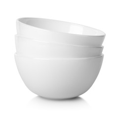 White bowls isolated