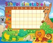 School timetable theme image 8