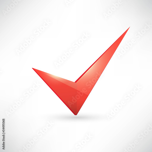 Isolated red check mark