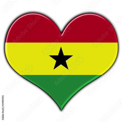 Heart with flag of Ghana