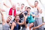 Fototapety motivierte sportgruppe