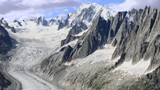 Mont Blanc and Valle Blance Mer de Glace from Charpua glacier
