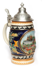 Traditional Czech beer mug