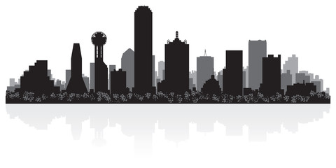 Dallas city skyline silhouette