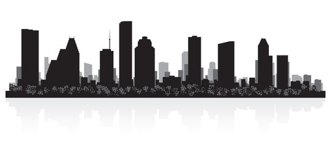 Houston city skyline silhouette