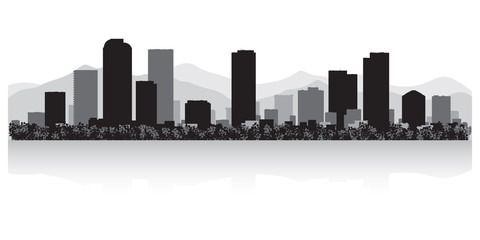 Denver city skyline silhouette