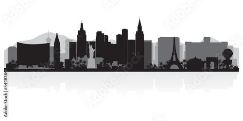 Las Vegas city skyline silhouette