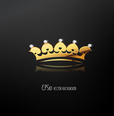 Golden crown, vector