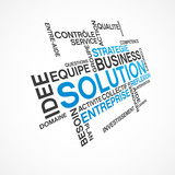 mot thème business solution