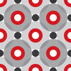Red Circles Seamless Pattern