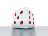 Dice rendered with red dots