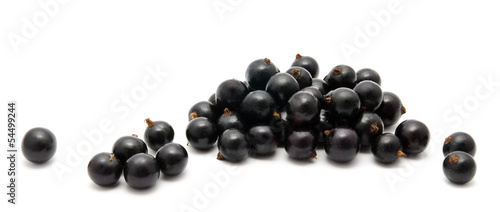 Heap of ripe black currant isolated on a white