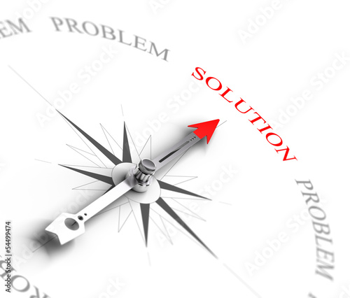 canvas print picture Solution vs Problem Solving - Business Consulting