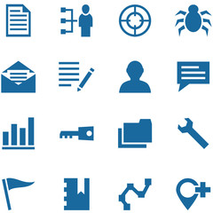 Collection of vector icons for design.