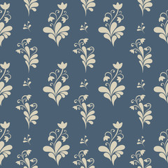 Floral ornate seamless pattern.