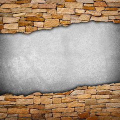 cracked stone wall