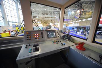 Model of control panel subway car
