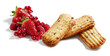 cookies with berries isolated