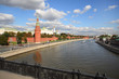 View from the bridge on Moscow river and Kremlin