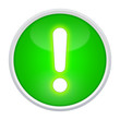 exclamation point green button round