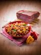 pasta with capsicum and parma ham