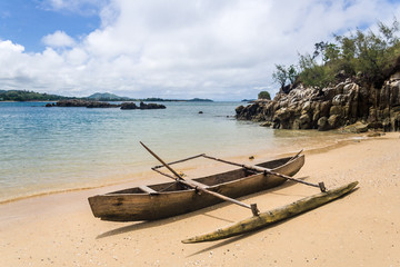 Canoe on the beach