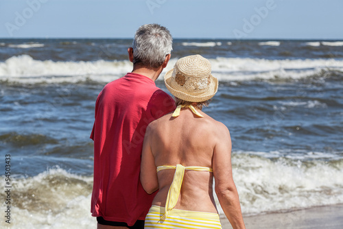 Senior couple at seaside