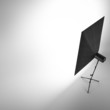 Empty photo studio with  white background