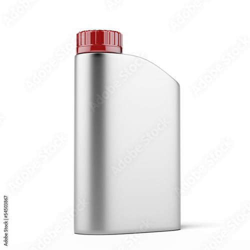 Silver canister with machine oil
