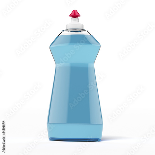 blue cleaner bottle