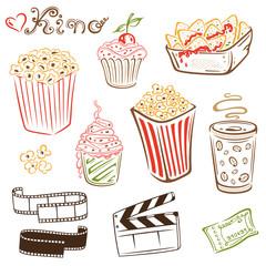 Kino, cinema, Film, movie, vector set