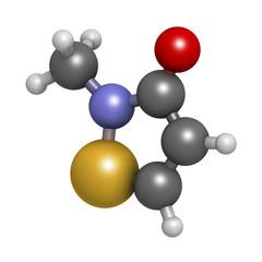 Methylisothiazolinone (MIT, MI) preservative molecule