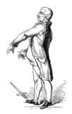 Man - Caricature - end 18th century
