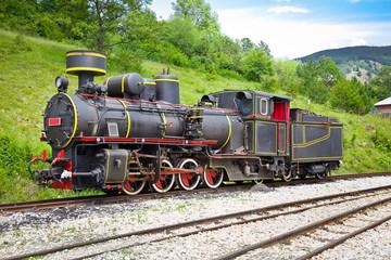 The locomotive of Shargan Eight railway in  Mokra Gora village,